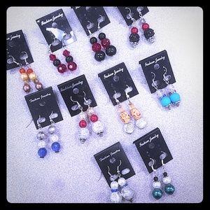 10Pk NEW Drop Earrings